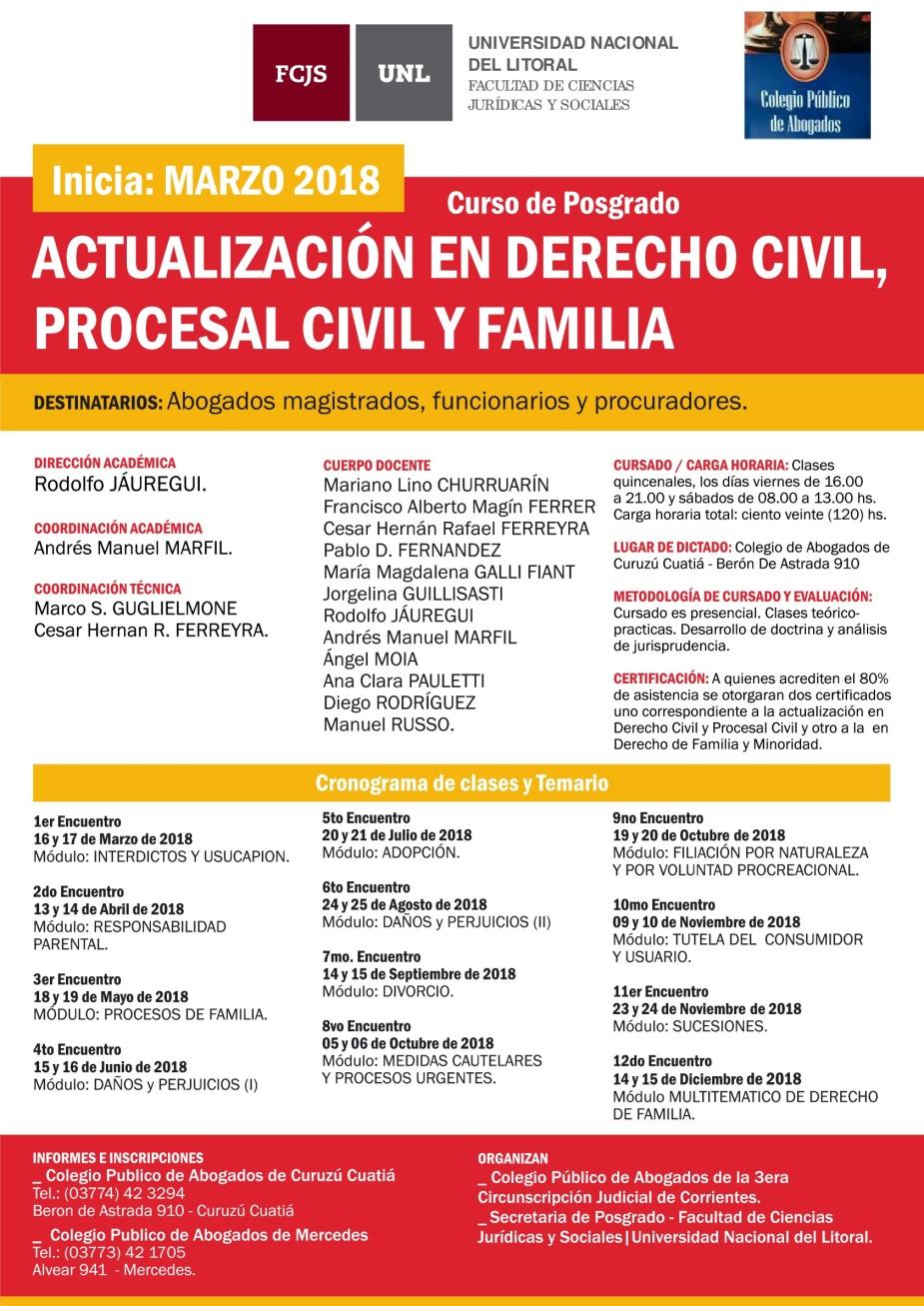 afiche curso familia CURUZU CUATIA - 2018-001